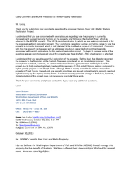 Lucky Comment and WDFW Response on Welts Property Restoration ...