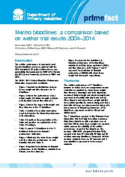 Merino bloodlinescomparisonbased on wether trial resultsDecember Prime