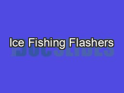 Ice Fishing Flashers