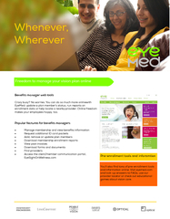 Freedom to manage your vision plan online