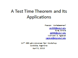 A Test Time Theorem