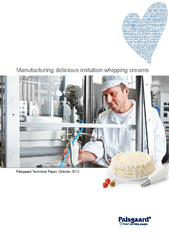 Manufacturing delicious imitation whipping creams