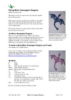 Anne Bruvold  Minor Norwegian Dragons Page  of  Flying Minor Norwegian Dragons Design Anne Bruvold This pattern is free and must not be sold but shar e this file for free all you want PDF document - DocSlides