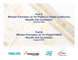 WhiskerFormation on Tin Plated Cu based LeadframesResultsand Conclusio PowerPoint PPT Presentation