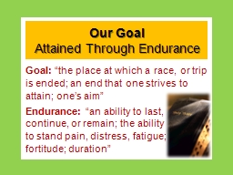 Our Goal PowerPoint PPT Presentation