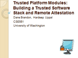 Trusted Platform Modules: Building a Trusted Software Stack