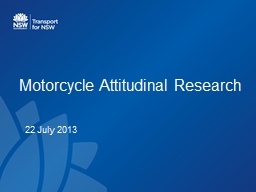 Motorcycle Attitudinal Research PowerPoint PPT Presentation