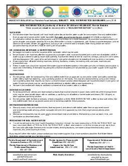 INDUSTRY BULLETIN IRUORULGDVRRGQGXVWU SUBJECT BOIL WATER NOTICE GUIDELINES June  BOIL WATER NOTICE  By Authority of Section