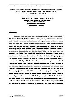International Journal of Advancements in Research &Technology, Volume