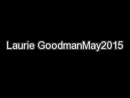 Laurie GoodmanMay2015