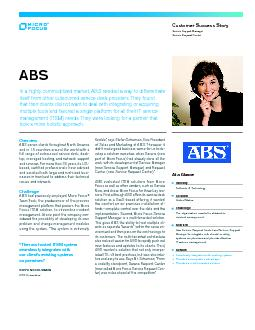 ABOUT ABS ASSOCIATES PowerPoint PPT Presentation