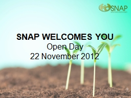 SNAP WELCOMES YOU