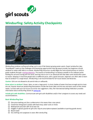 Windsurfing: Safety Activity Checkpoints
