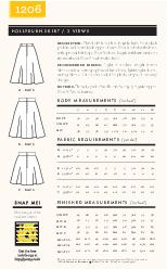 HOLLYBURN SKIRT   VIEWS A  BACK B  BACK DESCRIPTION  Flared skirts in three lengths have front slash pockets and centre back zipper closure PowerPoint PPT Presentation