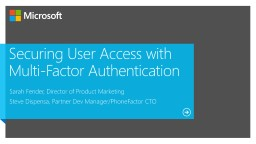Securing User Access with Multi-Factor Authentication