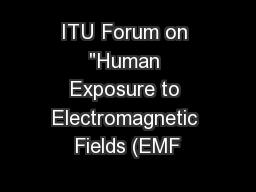 ITU Forum on