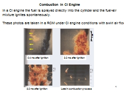 1 Combustion in CI Engine