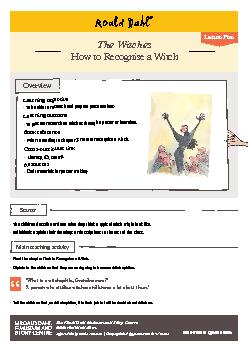 - How to Recognise a Witch cont. PowerPoint PPT Presentation