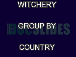 WHL: ACQUISITION OF THE WITCHERY GROUP BY COUNTRY ROAD LIMITED ...