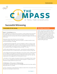 """Successful Witnessing""""The Compass"""" is a small group material"""