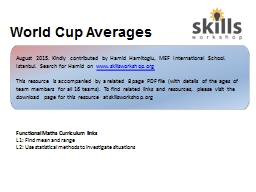 World Cup Averages