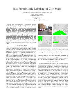 Fast Probabilistic Labeling of City Maps Ingmar Posner and Mark Cummins and Paul Newman Mobile Robotics Group Dept PDF document - DocSlides