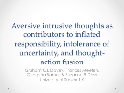 Aversive intrusive thoughts as contributors to inflated res