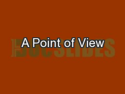 A Point of View
