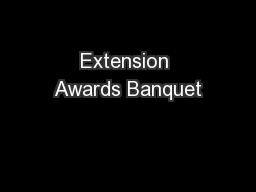 Extension Awards Banquet