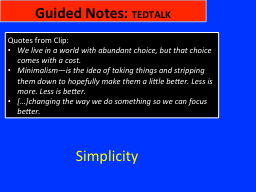 Guided Notes: