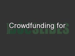 Crowdfunding for