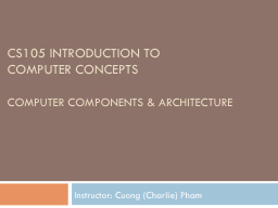 CS105 Introduction to