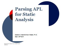 Parsing APL for Static Analysis