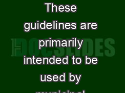 GUIDELINES NOISE CONTROL GUIDELINES Publication  October  INTRODUCTION These guidelines are primarily intended to be used by municipal officers to assist in the resolution of complaints or to avert a