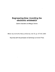 time: inventing the electronic wristwatch Carlene Stephens and British PowerPoint PPT Presentation
