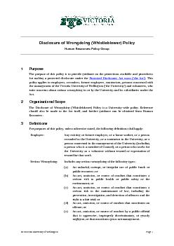 Disclosure of Wrongdoing (Whistleblower) Policy PowerPoint PPT Presentation