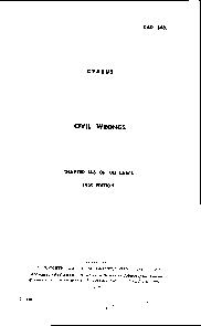 CAP. 148. CYPRUS CIVIL WRONGS 148 OF THE LAW 1959 EDITION PRINTED BY C PowerPoint PPT Presentation