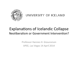 Explanations of Icelandic Collapse PowerPoint PPT Presentation