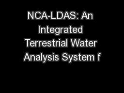 NCA-LDAS: An Integrated Terrestrial Water Analysis System f