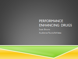 Performance enhancing drugs PowerPoint PPT Presentation