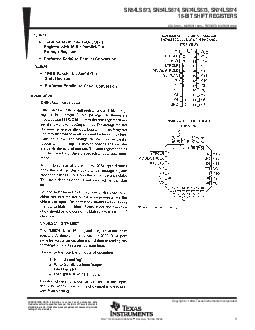 SNLS SNLS SNLS SNLS BIT SHIFT REGISTERS SDLS  MARCH   REVISED MARCH  POST OFFICE BOX  DALLAS TEXAS  Copyright  Texas Instruments Incorporated PRODUCTION DATA information is current as of publication PDF document - DocSlides