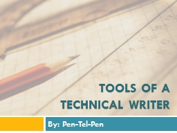 TOOLs of a TECHNICAL writer