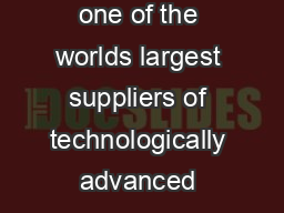 UTC Aerospace Systems is one of the worlds largest suppliers of technologically advanced aerospace and defense products