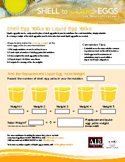 Shell Egg Yolks to Liquid Egg Yolks2. Crack required number of shell e