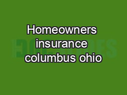 Homeowners insurance columbus ohio