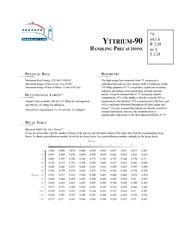 ATAMaximum Beta Energy: 2.28 MeV (100%)Maximum Range of Beta in Air: 9