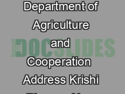 CitizensClients Charter for Department of Agriculture and Cooperation  Address Krishi Bhawan New Delhi Website ID http www