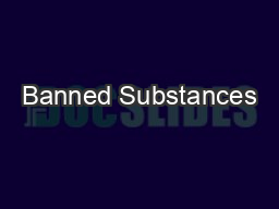 Banned Substances
