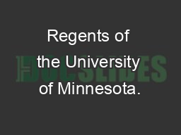 Regents of the University of Minnesota.
