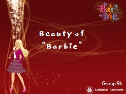 "Beauty of ""Barbie"" PowerPoint PPT Presentation"